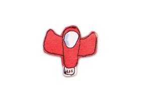 Illustration de vaisseau spatial rouge