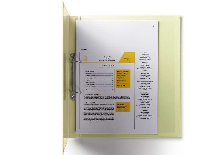 Extrait de la charte graphique de la collection