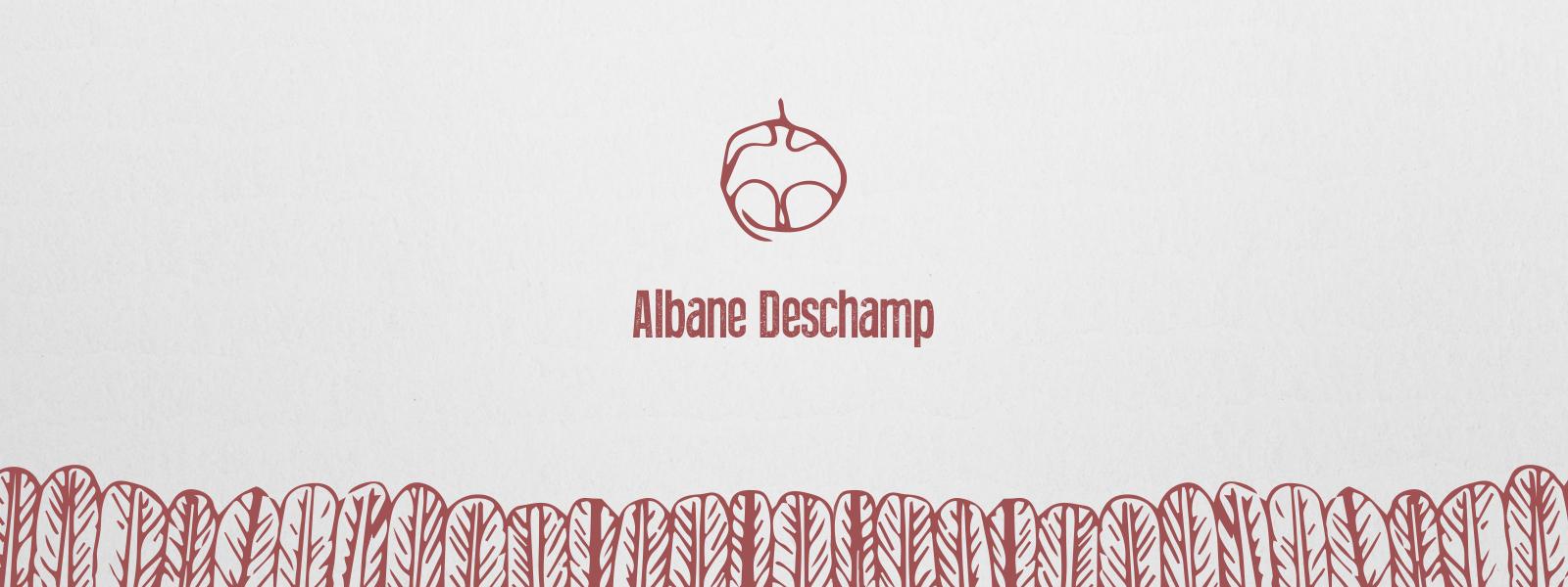 Identité graphique de Albane Deschamp