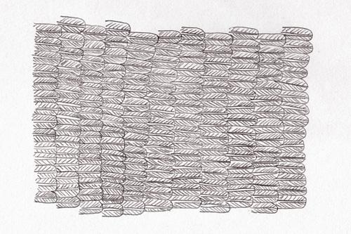 Motif de plumes pour en outil graphique de l'identité graphique d'Albane Deschamp