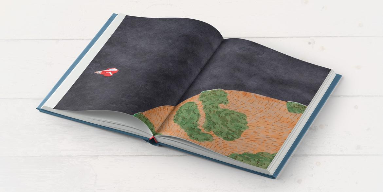 Illustration de l'album jeunesse Isidore, vaisseau et planète