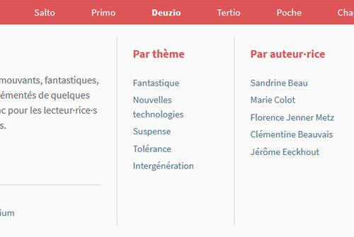 Méga-menu du site Alice Jeunesse 2020
