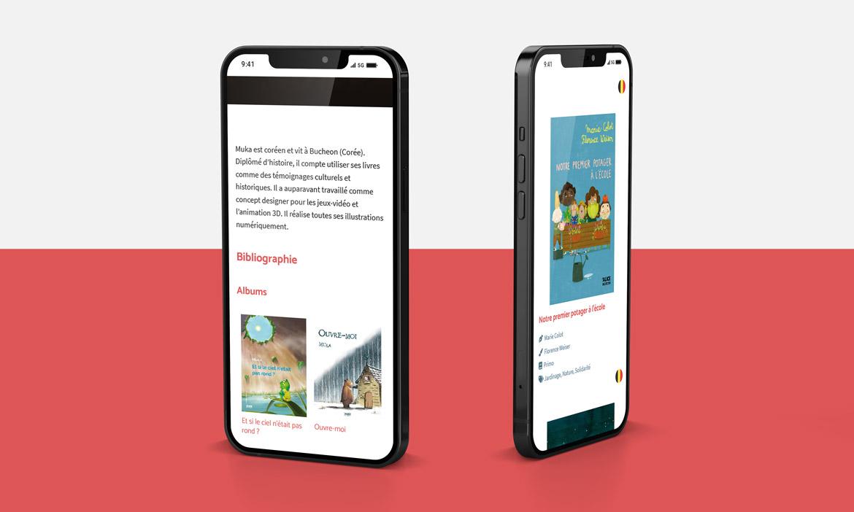 Site des éditions Alice Jeunesse sur mobile 2020